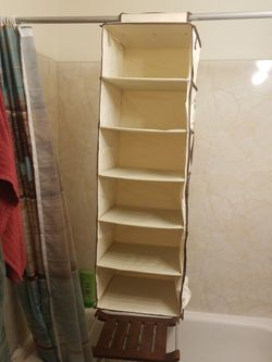 "Closet Organizer Like New Beige 6 Shelves....for Shoes, Garments, Etc...Length 43"" Width 13"" Each Shelves 7"" Apart... for Sale in Seattle,  WA"