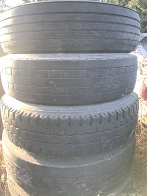 """Semi truck tires 22.5"""" and 24"""" for Sale in Fowler, CA"""
