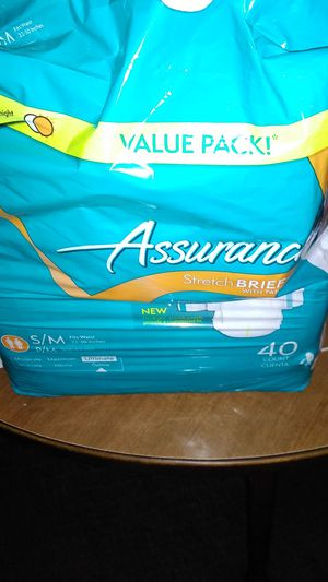 Assurance diapers for elderly for Sale in Sioux City, IA