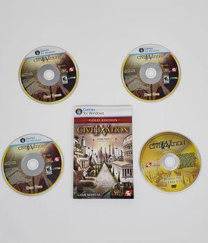 PC Game civilization gold edition for Sale in El Cajon, CA