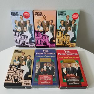 6 VHS Tapes - Fawlty Towers & Yes, Prime Minister for Sale in Wilmington, DE