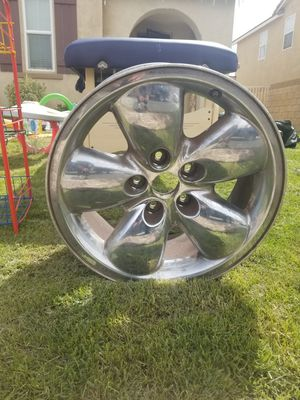 1 8 rims Dodge for truck all 4 rims only 5 lugs for Sale in Lancaster, CA