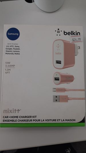 Samsung Belkin car+home charger kit for Sale in San Angelo, TX