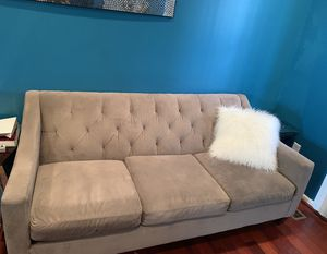 Macy's gray couch for Sale in Baltimore, MD