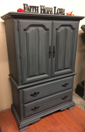 Shabby chic bedroom armoire/drawers/dresser for Sale in Santa Ana, CA