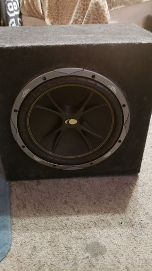 Kicker comp c12 svc 4ohm 12in sub,sealed single box for Sale in BRUSHY FORK, WV