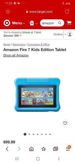 Amazon 8 fire tablet, kids edition for Sale in Denver, CO