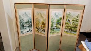 Hand painted Korean Screen for Sale in Chandler, AZ