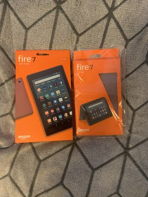 Amazon Fire Tablet 7 BRAND NEW Plum with WiFi and Folding Cover for Sale in Marietta, GA