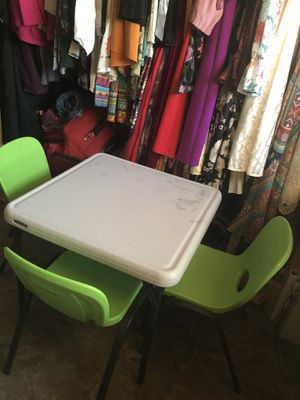 Lifetime kids table and 3 chairs for Sale in Queen Creek, AZ