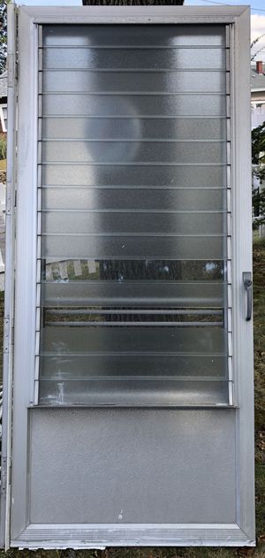 All aluminum heavy duty storm door 36x80 and one 32x80 for Sale in North Providence, RI