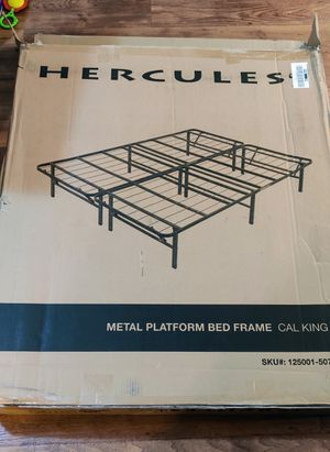 California King Metal Bed Frame for Sale in Chino Hills, CA