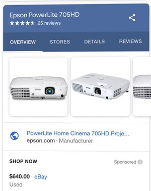 EPSON Home Cinema 705HD for Sale in Lyndhurst, VA