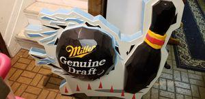 Miller beer bowling sign for Sale in Utica, MI