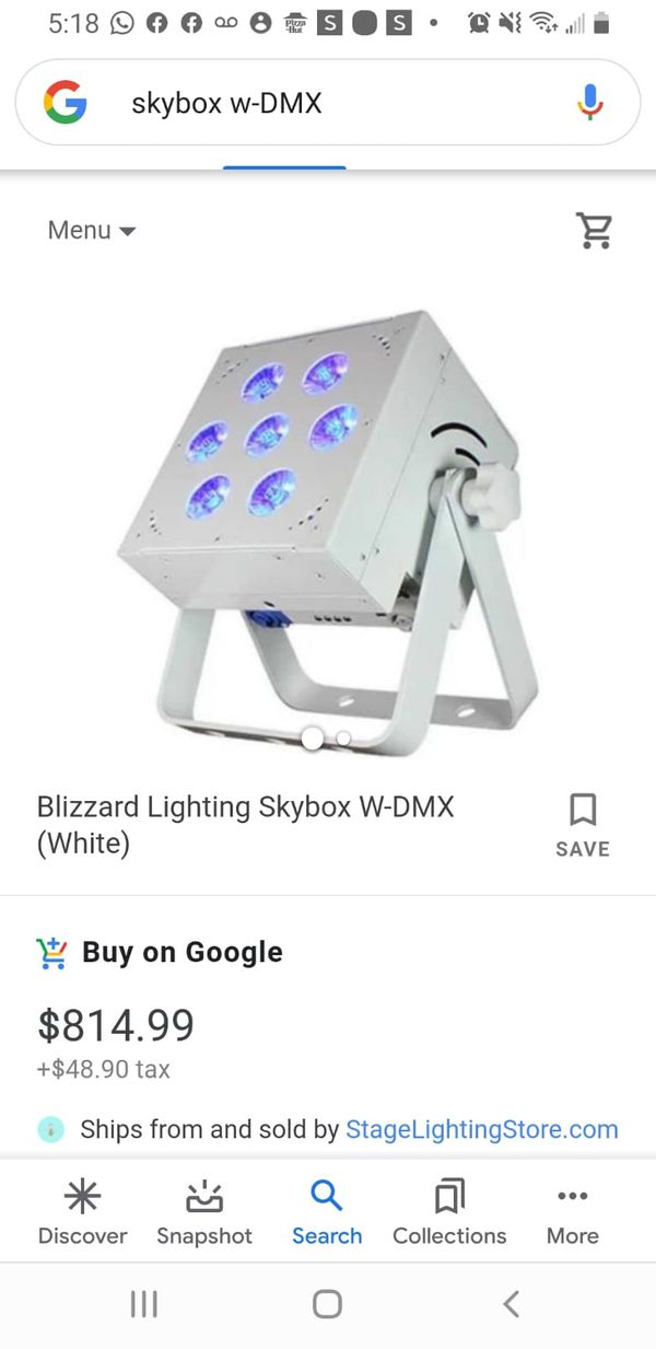 Luces led / Blizzard sky box