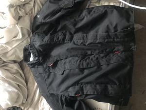 Black padded motorcycle jacket for Sale in Sandy, UT