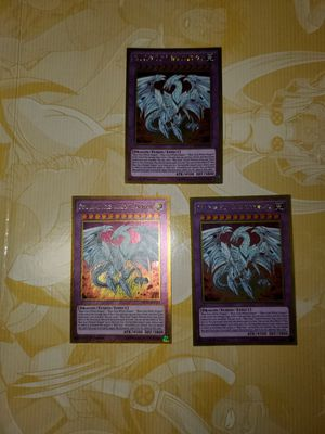 3x Neo Blue-Eyes Ultimate Dragon Gold Rare YuGiOh for Sale in Vista, CA