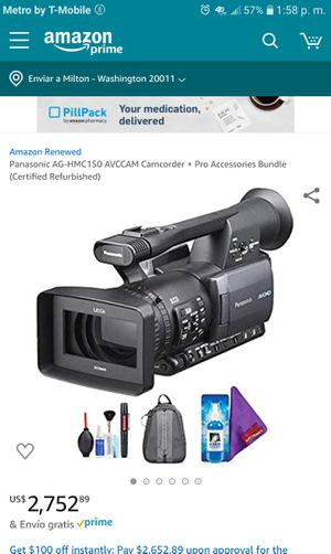 PROFESIONAL PANASONIC CAMCORDER +EXTRAS for Sale in Silver Spring, MD