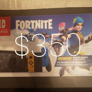 Nintendo Switch Fornite Limited Edition New Wildcats, NEW, NO TRADES, PICK UP ONLY, FIRM for Sale in Rancho Cucamonga, CA