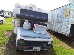 1984 Toyota pickup camper manual shift 4 cylinderder 40000 miles brand new motor and transmission loaded with sellable items for Sale in Port Charlotte, FL