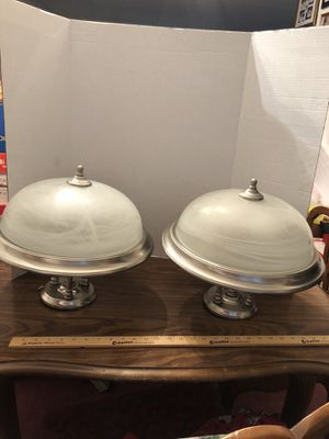 "2 Ceiling lights 15"" wide 14"" down from ceiling pick up Hilliard area for Sale in Hilliard, OH"