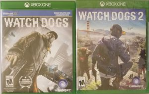 Watch Dogs 1 and 2 XBOX One for Sale in Westport, WA