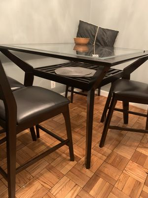 Glass Table + 4 chairs for Sale in Arlington, VA