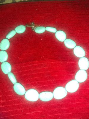 Turquoise stone bracelet with silver for Sale in Los Angeles, CA