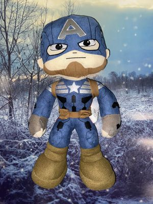 """Marvel Captain America approximately 17"""" Plush action Figure clean stuffed animal. for Sale in Bellflower, CA"""
