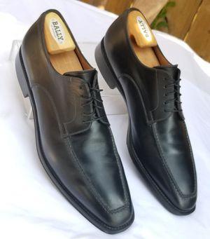 Santoni Black Leather Apron Toe Dress Shoes Size 10.5 D for Sale in Arlington, TX
