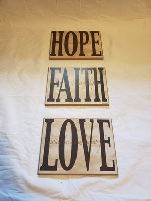 Hope Faith Love Home Decor for Sale in MONTGMRY, IL