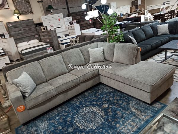 Sectional Sofa, Light Grey, SKU# ASH87214TC