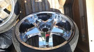 22in Chrome Stonz rims for Sale in Nashville, TN