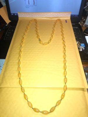 "Vintage 52"" Yellow Baltic Amber Bead Necklace 60.2 Grams TW Preowned from an Estate for Sale in Berlin, NJ"
