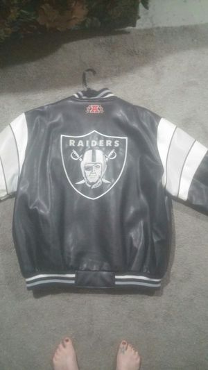 Raiders Leather Jacket Black and Gray XXL * LIKE NEW * for Sale in Price, UT