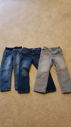 4T girl's jeans (3 pair lot) for Sale in Frederick, MD