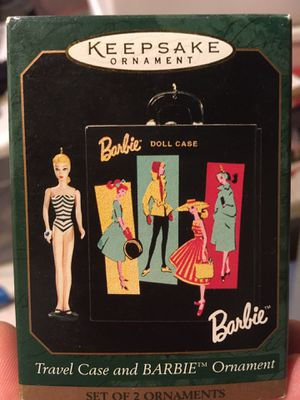 Hallmark Barbie travel case and Barbie ornament for Sale in Export, PA