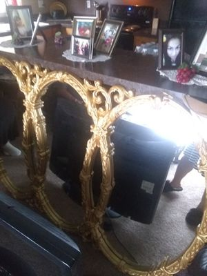 Sofa arm chair mirror coffee table tv and tv atand for Sale in Puyallup, WA