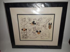 Mickey Mouse Model Sheet Framed Pin Set for Sale in Kissimmee, FL