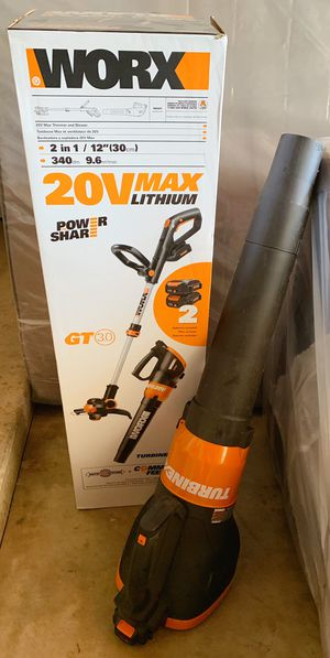 20v WORX trimmer (never used) and leaf blower (normal used) plus 2 extra rechargeable batteries !! for Sale in Alta Loma, CA