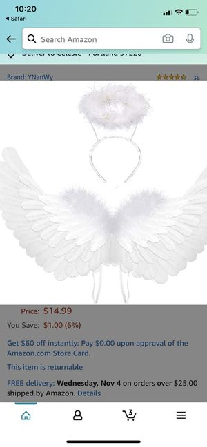 White wings with halo for Sale in Portland, OR