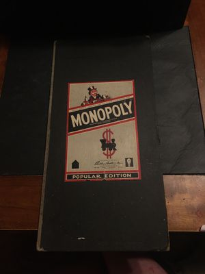 Vintage 1954: Popular edition monopoly board game. for Sale in Wattsburg, PA
