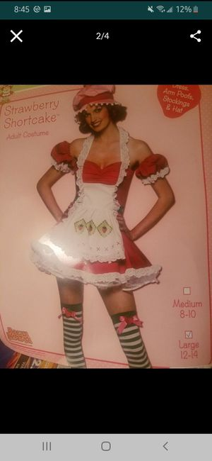 NEW- strawberry shortcake costume size Large for Sale in Fridley, MN