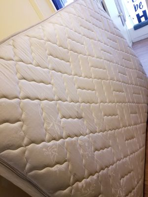Clean Queen size mattress and box spring $75 obo for Sale in Denver, CO
