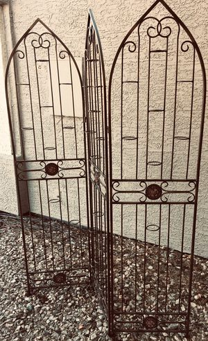 Decorative Wrought iron divider H66xW50 (3x16.55) inch for Sale in Chandler, AZ
