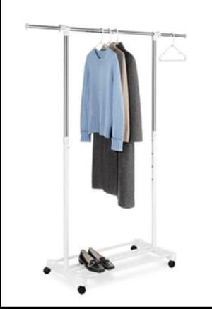 2 in 1- organizer Rack and shoe rack Perfect for any room or closet! Adjustable and with wheels! for Sale in Miami, FL