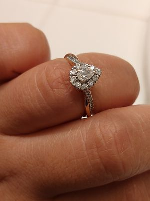 Beautiful 10k pear shaped rose gold wedding ring for Sale in Salinas, CA