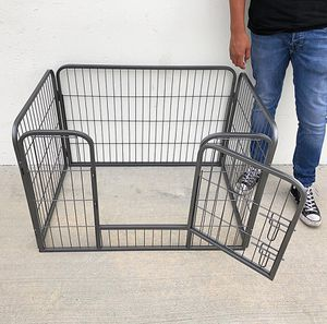 """(NEW) $55 Heavy Duty 37""""x25""""x24"""" Pet Playpen Dog Crate Kennel Exercise Cage Fence, 4-Panels Play Pen for Sale in South El Monte, CA"""