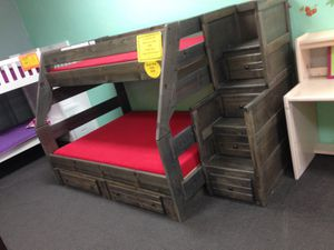 Stairway twin over full bunk bed. Color choice for Sale in Tucson, AZ