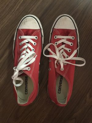 Women 9 Men 7 Red Converse Shoes for Sale in Arlington, VA